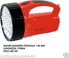 TORCIA A 19 LED LAMPADA RICARICABILE POTENTISSIMA 500 METRI LUCE CON PRESA 220V