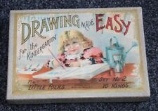 ANTIQUE 1897 Drawing Made Easy For The Kindergarten BOXED