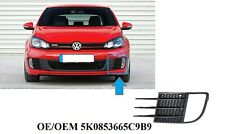 *VW GOLF VI 09-12 GTI GTD LEFT FRONT BOTTOM FOG LIGHT BUMPER GRILLE TRIM BEZEL*