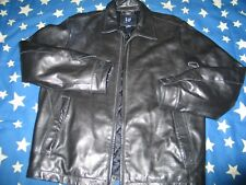 GAP Thick Leather black Jacket  men M