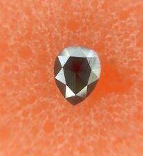 EXCELLENT 0.17TCW OPAQUE PEAR SHAPE BLACK COLOR FANCY NATURAL DIAMOND FOR JEWELS