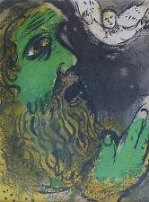 """MARC CHAGALL BIBLE """"Hiob in prayer"""" HAND NUMBERED LITHOGRAPH M253"""