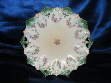 "Vintage Porcelain 10"" Plate Austria MZ Moritiz Zdekauer 1900 Pink Roses"