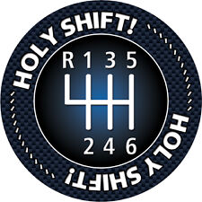 Holy Shift MINI Cooper 6 gears speeds manual stick Magnetic Grill Grille Badge