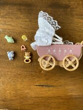 Calico Critters Sylvanian Families Carriage Ride Stroller and accessories