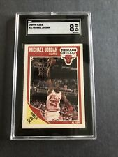GRADED 1989-90 Fleer #21 Michael Jordan SGC NM-MT 8 Chicago Bulls