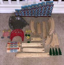 LOT Thomas the Train BRIDGE Wooden Train Tracks Elevated Crossing Accessories