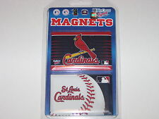 "St. Louis Cardinals Team Logo 2 Pack Magnet Set - 3"" x 2"" With Metal Back"