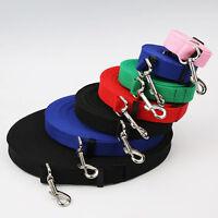 746|Laisse /collier LASSO-corde cuir-2 en 1 noir 1,20m / 8mm ou 13mm pour chien