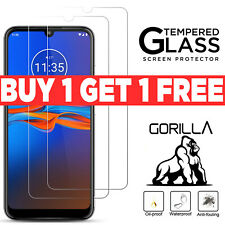 2x Genuine TEMPERED GLASS Screen Protector Cover for Motorola Moto E6 Plus