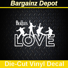 .. Vinyl Decal .. THE BEATLES ... LOVE .. Car Laptop Sticker Vinyl Decal