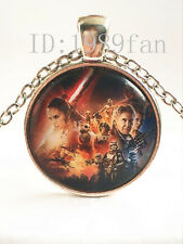 Star Wars Portrait Cabochon Tibetan silver Glass Chain Pendant Necklace J01