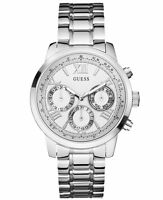 U0330L3-New Guess Silver Stainless Steel Chronograph Ladies Latest Watch