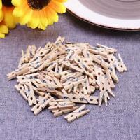 Mini Wooden Clothes Photo Paper Clothespin Craft Clips School Office Stationery