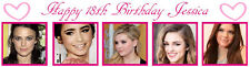 Personalized 18th Birthday Party Banner Poster with photo