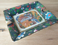 Vintage Satsuma Sasuma Hand Painted Ashtray 19cm x 16cm x 3.5cm