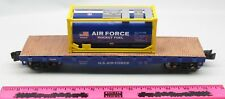 "Menards ~ 11-1/2"" O Gauge Air Force Flatcar with Fuel Container"