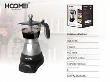 CAFFETTIERA MOKA ELETTRICA 400W PER 3 TAZZE MACCHINA PER CAFFE MACINATO