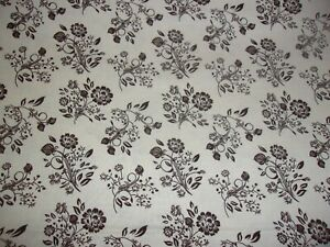 Retro Vintage 1800's Floral Brown Flower Tan Quilting Sewing Cotton Fabric 9