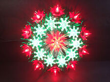 """Yule Glo Vtg Christmas Star 21 Light Pointsettia #255 Nos 8"""" Tree Topper"""