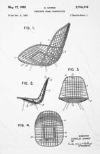 Stampa incorniciata-Eames DKR metà del secolo Sedia brevetto Disegno (PICTURE Bertoia)
