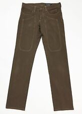 Jeckerson w33 46 48 LL008U regular fit pantalone marrone usato uomo pants T822