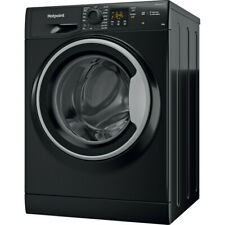 More details for hotpoint nswm1044cbs freestanding 10kg washer - black