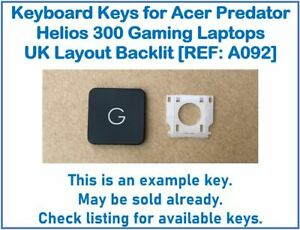 Keyboard Keys for Acer Predator Helios 300 Gaming Laptops UK Backlit [REF: A092]