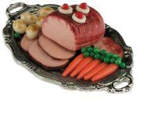 Dollhouse Miniatures 1:12 Scale Ham Dinner on Tray #Im66023