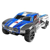 Redcat Racing Blackout SC Brushed Electric Motor RC Short Course Truck, Blue