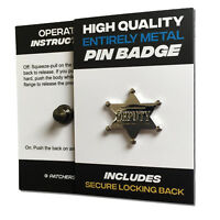 Deputy High Quality All Metal Pin Badge with Secure Locking Back