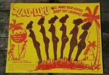 Zulu Lulu Swizzle Sticks  - Vintage - Black Americana - African - Tiki Bar