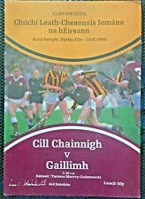 1986 GAA KILKENNY v GALWAY All Ireland Hurling S-Final Programme
