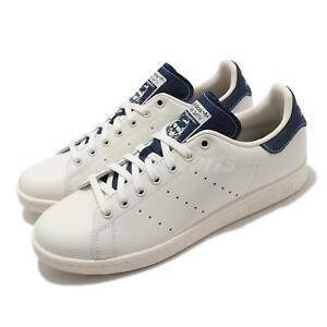adidas Originals Stan Smith Off White Denim Navy Men Women Unisex Classic FW4424
