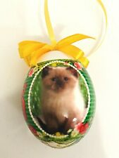 Ab Ovo Heritage Collectible Egg Kitten Ornament Cats Christmas Gift In Box 805Of