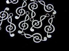10 Pcs -  Tibetan Silver Music Note Charms Jewellery Craft Beading Pendant K9
