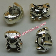 P1357B 50pc Tibetan Silver Charm Bear animal Spacer Beads accessories wholesale