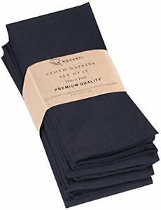 Ruvanti Black Cloth Napkins 12 Pack 18 X 18 Inches Black Linen Napkins - Soft...