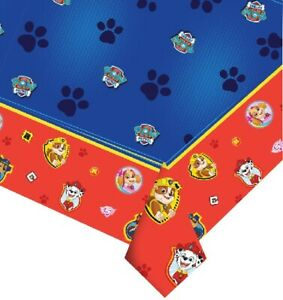 Paw Patrol Happy Birthday Boy Girl Tablecover Banner Party Decoration Partyware