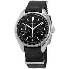 Bulova Special Edition Lunar Pilot Chronograph Black Dial Men's Watch 96A225