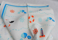 Nautical Design 100% Cotton Tea Towel / Glass Cloth - BNIB
