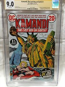 KAMANDI #1 Jack Kirby CGC 9.0 Signed Mike Royer