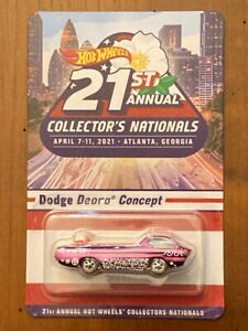 HOT WHEELS 21ST ANNUAL COLLECTOR'S NATIONALS DINNER CAR DODGE DEORA CONCEPT