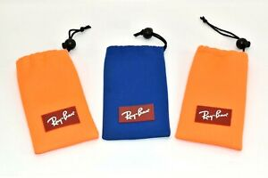 Lot of 3 Ray-Ban Kids Junior Eyeglasses Sunglasses Glasses Optical Pouch Cases