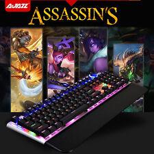 Regno Unito Ajazz ASSASSIN AK35 Nero Blu Interruttore 107 tasti meccanici USB TASTIERA gaming