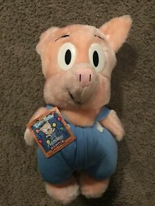 "Vintage 1990 Tiny Toons 11"" Hampton Pig Plush Stuffed animal"