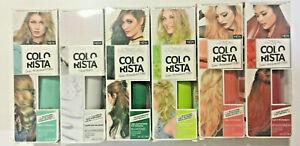 LOreal Colorista Semi-Permanent Hair Color: CLEARMIXER00, PEACH100, TANGERINE40