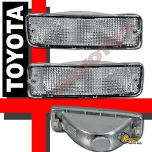 Clear Bumper Signal Lights 1 Pair For 89-95 Toyota PICKUP 2WD 4WD 90 93 94