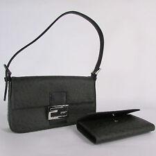 New Purse Dark Green Gray Faux Ostrich Pattern Leather Handbag + Matching Wallet