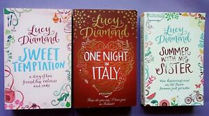Bundle Of 3 Books by Lucy Diamond Sweet Temptation- Summer with My Sisiter +one.